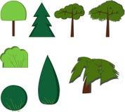 Les arbres garent le vecteur de plan de forêt illustration de vecteur