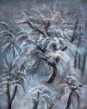 Arbres d'hiver Photo libre de droits