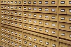 Les archives sont dans une bibliothèque Photographie stock