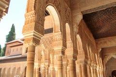 Les arcs d'Alhambra Images libres de droits