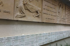 Les ardoises remercient la mère Mary et le mur autour de l'église du M Photos libres de droits