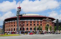 Les Arenes bullring przy placem Espanya, Barcelona zdjęcie stock