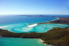 Îles aériennes de Pentecôte de plage de Whitehaven Photo stock
