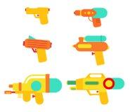 Les armes à feu d'eau emballent l'ensemble illustration de vecteur