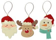 Les articles de décoration de Noël ont isolé illustration de vecteur