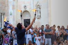 Les artistes exécutent dans la rue Images libres de droits