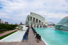 les arts mettent en boîte la ville de l hemisferic les Palau que les sciences de reina voient Sofia image stock