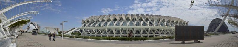 les arts mettent en boîte la ville de l hemisferic les Palau que les sciences de reina voient Sofia Valence Espagne photos stock