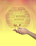 Les aspects du neuro- mot de NLP de programmation linguistique opacifient - photographie stock libre de droits
