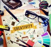 Les aspirations de capacité de créativité créent le concept de développement images stock