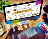 Les aspirations de capacité de créativité créent le concept de développement image libre de droits