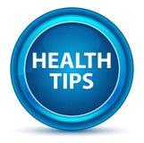 Les astuces de santé regardent le bouton rond bleu illustration libre de droits