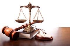 Les attributs d'un juge Photographie stock libre de droits