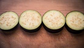 Les aubergines coupées en tranches Photographie stock libre de droits