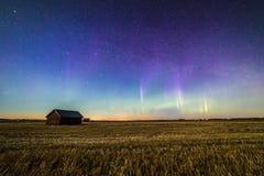 Les aurores dans la campagne Image stock