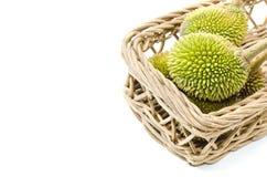 Les autres durians et panier de vue Photographie stock