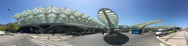Les auvents et les ponts de Gare font Oriente, Lisbonne, Portugal par Calatrava Images libres de droits