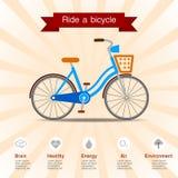 Les avantages du tour une bicyclette Photographie stock libre de droits