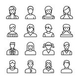 Les avatars humains rayent des icônes illustration de vecteur
