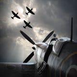 Les avions de combat Photo libre de droits