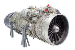 Les avions de moteur à réaction, turbine ont isolé le fond blanc Photographie stock libre de droits