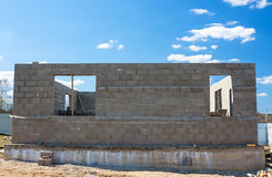 Les bâtiments autoguident des briques Images libres de droits