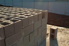 Les bâtiments autoguident des briques Photo libre de droits