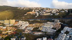 Les bâtiments de l'île de Ténérife, Îles Canaries, Espagne photo libre de droits