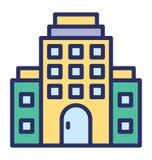 Les bâtiments de ville ont isolé l'icône de vecteur qui peut facilement modifier ou éditer illustration stock