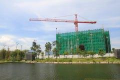les bâtiments est en construction dans le hkstp Photo libre de droits