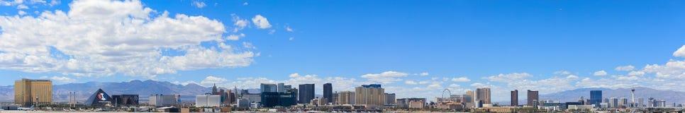 Les bâtiments et les casinos sur le paysage urbain Las Vegas du centre de bande Photos libres de droits