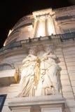 Les bâtiments le long de l'endroit de le Comedie comprenant des Beau-arts dénomment G Photographie stock libre de droits