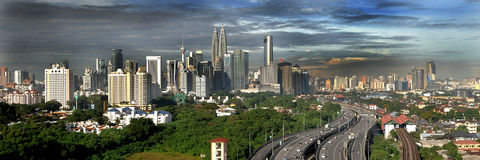 Les bâtiments les plus grands en Kuala Lumpur Images stock