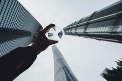 Les bâtiments modernes dans Lujiazui financent le secteur, Changhaï, Chine Photos stock