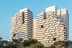 Les bâtiments s'approchent de l'avenue 23th le mai Avenida 23 de Maio dans la PA de sao Image stock