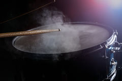 Les bâtons de tambour et le tambour de piège Images libres de droits
