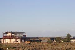 Les bétail postent dans l'Australien à l'intérieur Photos stock