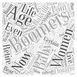Les baby boomers font souffrir le fond de vecteur de concept de nuage de mot d'Oakville Ontario illustration stock