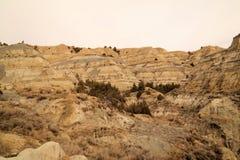 Les bad-lands Photographie stock libre de droits