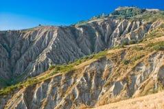 Les bad-lands d'Atri, Italie Photographie stock libre de droits