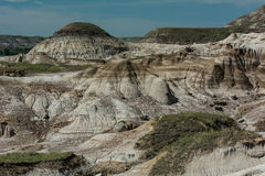Les bad-lands près de Drumheller Alberta Images stock