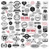 Les bagdes de vintage, marque et emboutit Images libres de droits