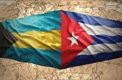 Les Bahamas et le Cuba illustration stock