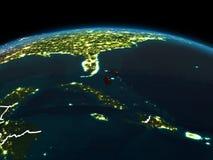 Les Bahamas sur terre la nuit Photographie stock libre de droits