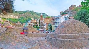 Les bains d'Abanotubani à Tbilisi Images libres de droits