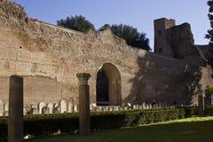 Les bains de Diocletian à Rome Photographie stock libre de droits