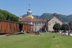 Les Bains, Jura, France de Casino de Salins Image libre de droits
