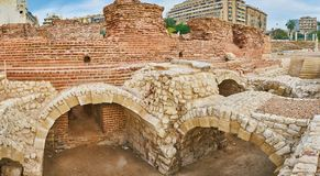 Les bains romains à l'Alexandrie, Egypte images stock