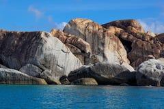 Les bains Virgin Gorda, île de Vierge britannique (BVI), des Caraïbes Photo libre de droits