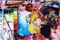 les balais contrôlent des illustrations de construction plus de mon portefeuille de peinture s'il vous plaît Images stock